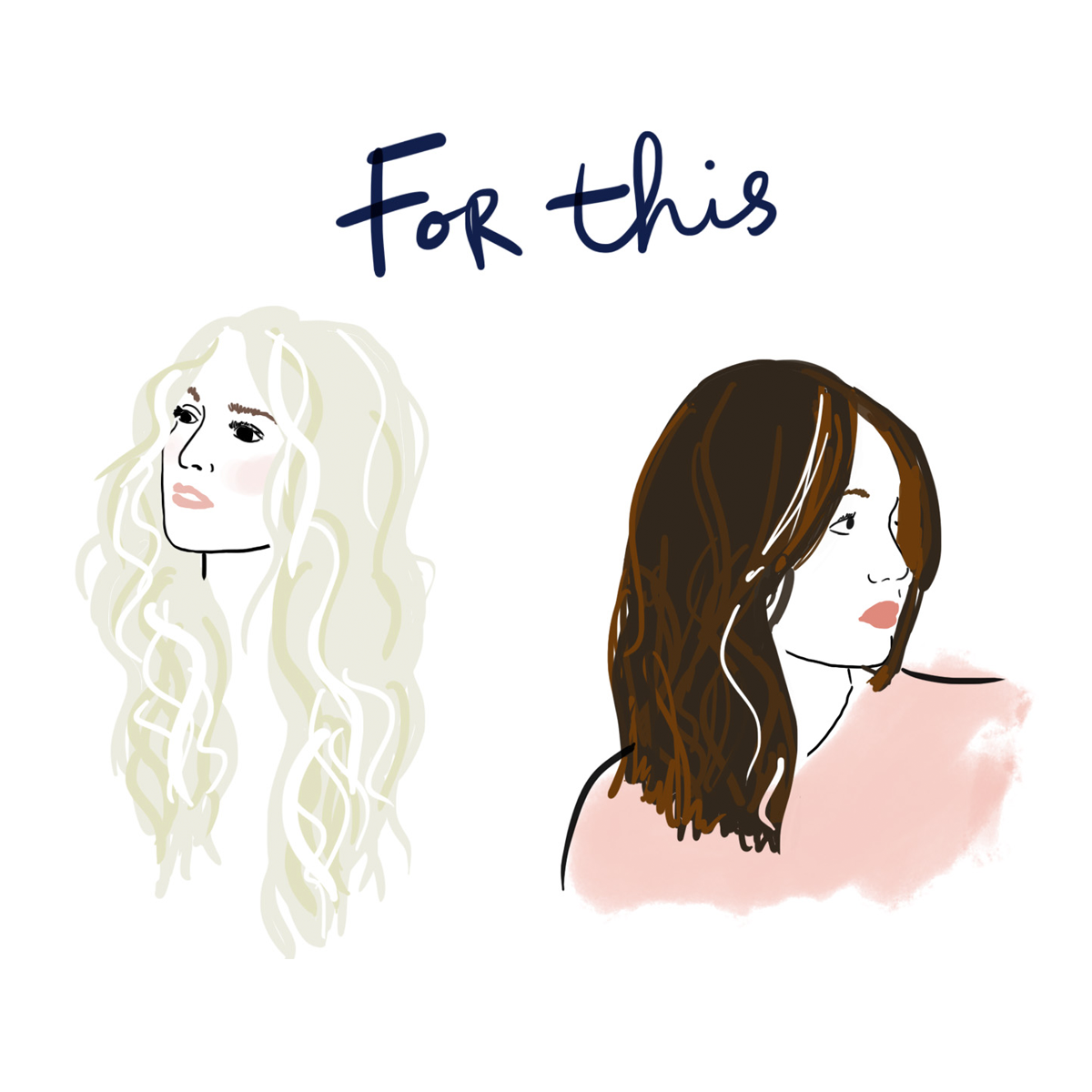 Illustration of wavy hair