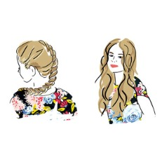 Hair Styles Illustrated - Two Days of Style: Braid, Then Waves