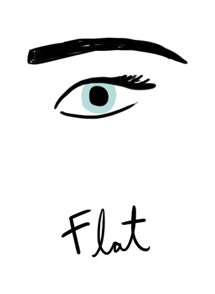 Illustration of flat brow