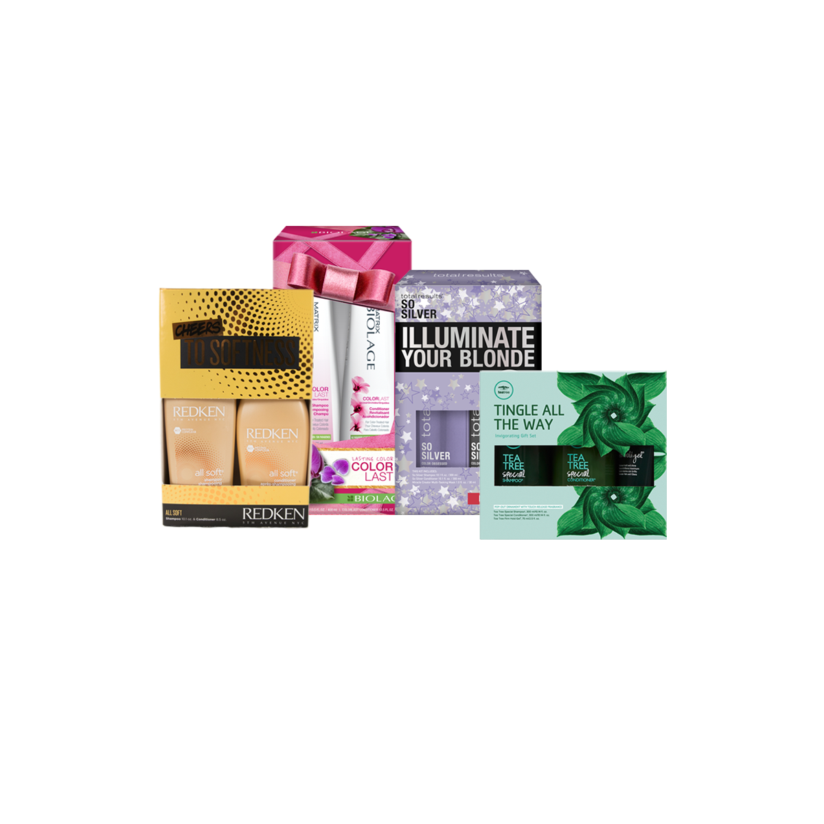 assortment of hair care gift sets