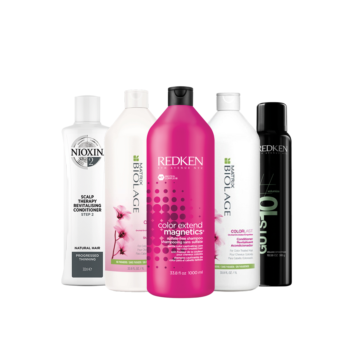 tea tree, nioxin, redken, matrix, biolage products