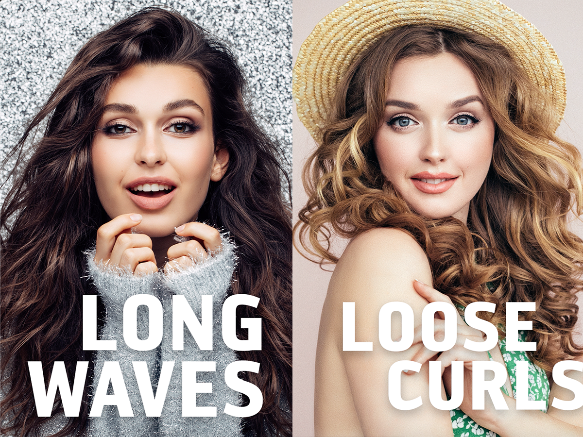 Picture of long waves and loose curls hair