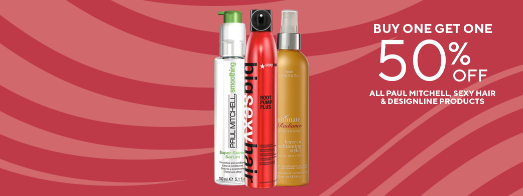 group of paul mitchell, sexy hair, and designline products