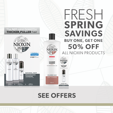 Buy One Get One 50% off All Nioxin Products