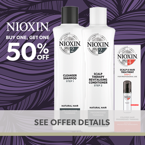 Nioxin: Buy One, Get One 50% Off