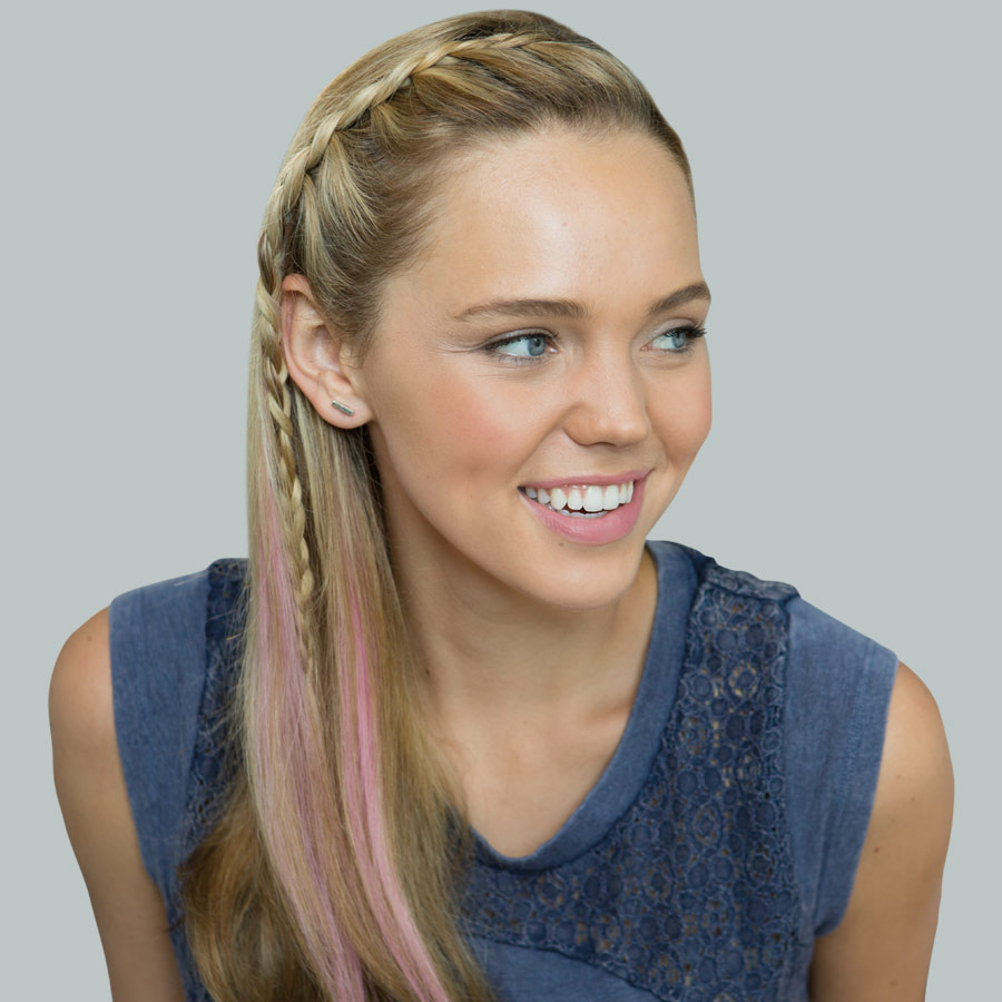 Signature Style model with hair braid