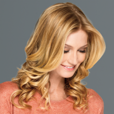 Lob with Face-Framing Layers and Soft Curl