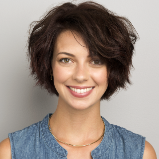 Signature Style model with a bob