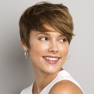 Woman with pixie short hair hairstyle