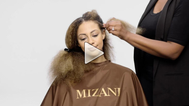 video grab of hair service